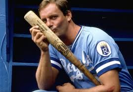 George Brett. He dated the bat, but never took it to meet his parents.